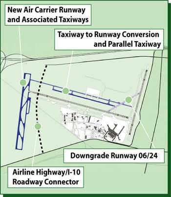 new orleans msy airport improvement plans 0804 1a faa grants $10 million to overhaul new orleans runway aero news