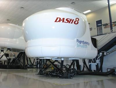 FlightSafety Updates The Flight Deck Of Its Dash 8 300 Sim