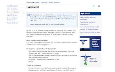 BasicMed Information Rollout Begins   Aero-News Network