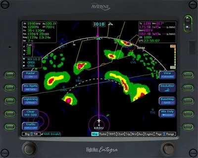 Flying Weather Map.Avidyne Envisions Success In Experimental Retrofit Segments Aero