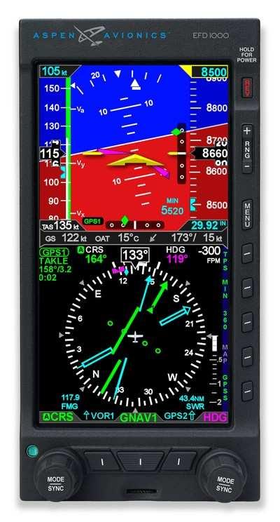 Aspen Avionics Adds XM Weather To Evolution Flight Display