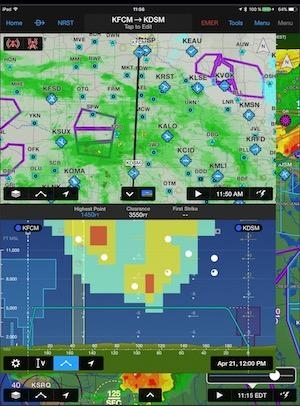 garmin pilot ios incorporates new weather features. Black Bedroom Furniture Sets. Home Design Ideas