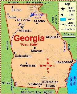 Map Of Georgia Colony.The Georgia Colony Was One Of The Original 13 Colonies Lo