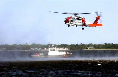 as the floodwaters surged in new orleans and throughout the gulf region us coast guard helicopters were the first on the scene at the height of the relief