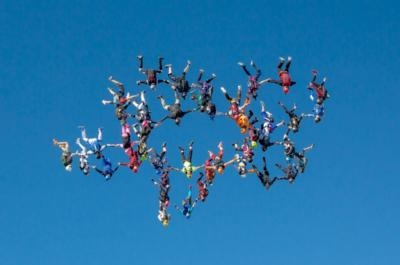 Forty-Two Skydivers Claim World Record Flying Upside Down